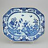 A blue and white tureen and a serving dish, qing dynasty, qianlong (1736-95).