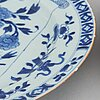 A pair of blue and white dishes, qing dynasty, kangxi (1662-1722).