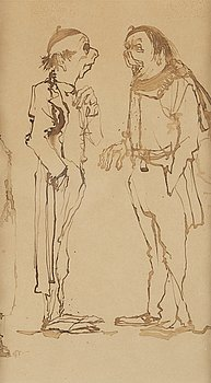 Axel Fridell, brush drawing, certified verso, executed around 1932.