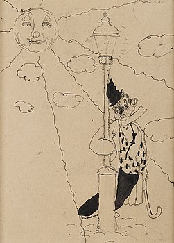 Axel Fridell, indian ink drawing.