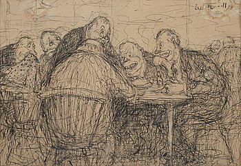 Axel Fridell, drawing, signed and dated -13.
