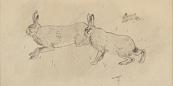 Axel Fridell, pencil drawing, signed and dated 1911.