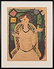 Olle olsson-hagalund, a lithograph in colors, signed and numbered 282/360.