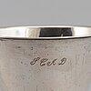 A swedish silver beaker, mark of johan steinfort, stockholm 1766.