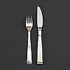 12 + 12 pc silver cutlery 'rosenholm', design jacob ängman, gab, some stockholm 1964.