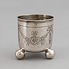 A russian silver beaker, a dementev, moscow 1743-84, with assayers mark a titov, moskva 1795.