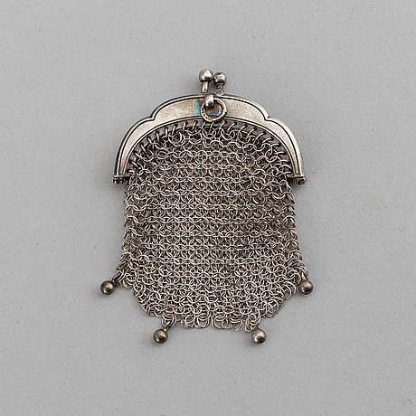 A russian silver purse, odessa, early 20th century.