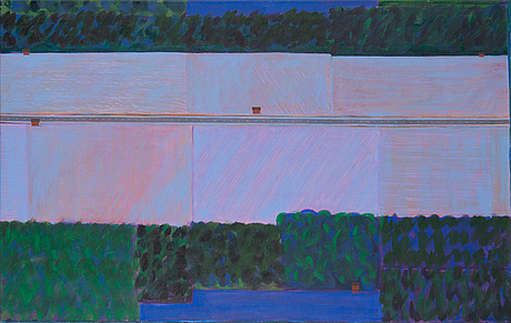 Kristian krokfors, acrylic on canvas, signed and dated -89.