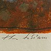 Theo tobiasse, lithograph in colours, signed ea 16/25.