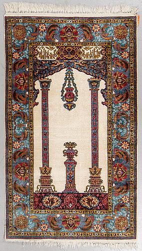 Matto, mercerised cotton, ca 161 x 95 cm.