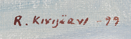 Reijo kivijärvi, oil on canvas, signed and dated -99.