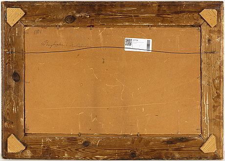 Severin nilson, oil on canvas/paper-panel, signed.