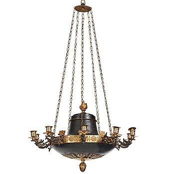 75. AMPEL för tio ljus, möjligen Åbo, 1800-talets första hälft, Empire.