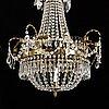 A gustavian style chandelier from around year 1900.