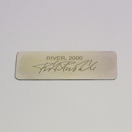 "Ritva puotila, taidetekstiili, ""joki"", signeerattu ritva puotila woodnotes 2000."