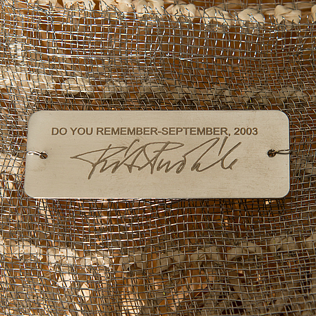 "Ritva puotila, taidetekstiili, ""do you remember-september"", signeerattu ritva puotila woodnotes 2003."