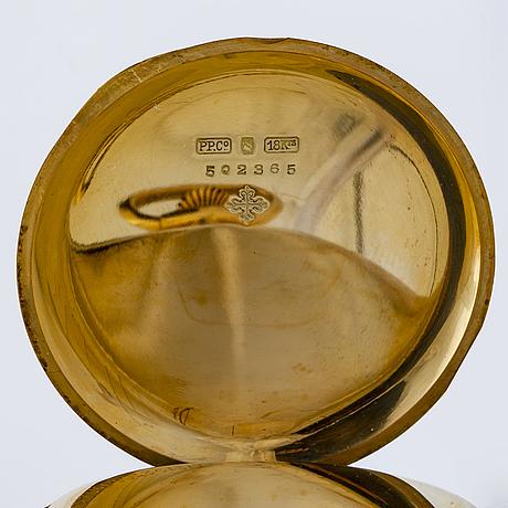 Patek philippe & cie genève, pocket watch hunter case, 48 mm,