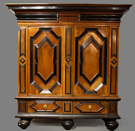 An early 18th century baroque cupboard.