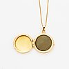 18k gold locket, with chain.