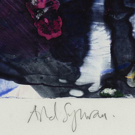 Astrid sylwan, monotypi, signed.