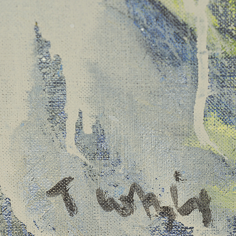 Ulf trotzig, oil on canvas, signed.