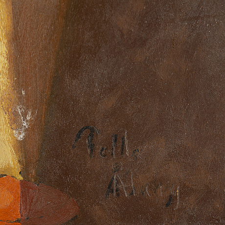 Pelle Åberg, oil on paper-panel, signed.