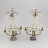 A pair of late-gustavian style 19th-century girandoles.