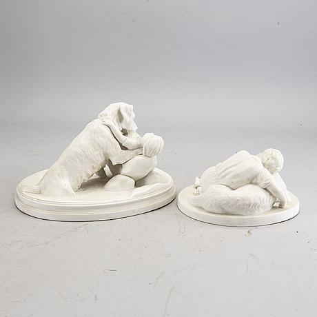 Figuriner 2 st gustavsberg omkring 1900 parian.
