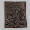 Unknown artist 19th/20th century, plaque/relief. unsigned. cast iron 32.5 x 27.5 cm.
