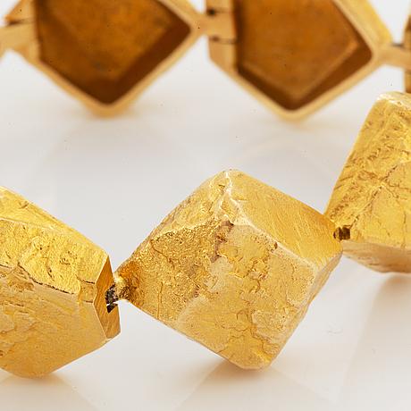 "Björn weckström,  bracelet, ""lapplands stenar"", 18k guld."