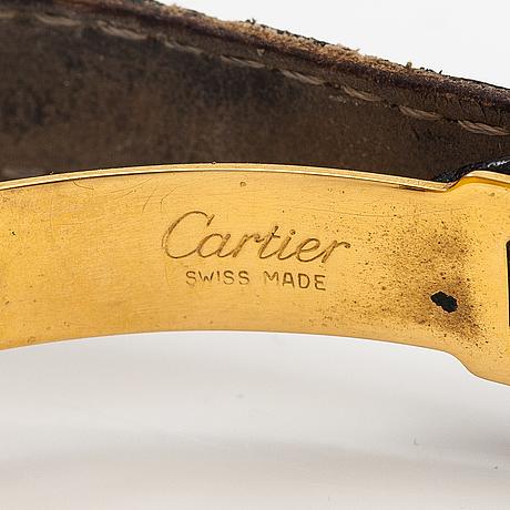 Cartier, vermeil, wristwatch, 24 mm.
