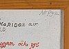 Madeleine pyk, olja på duk, signerad.