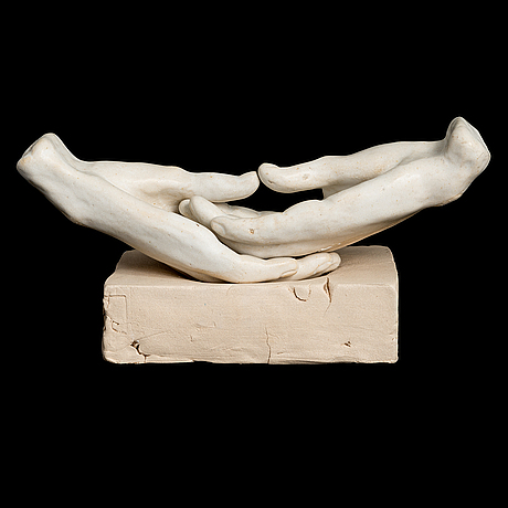 Anna hackman, a 'meditation' sculpture signed hackman -03.
