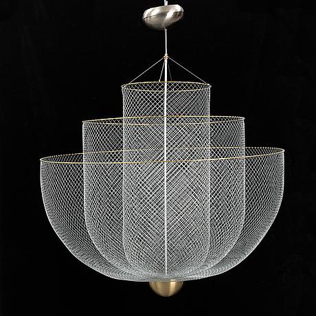 "Rick tegelaar, taklampa ""meshmatics chandelier"", moooi."