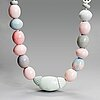 Anna hackman, a 'string of pearls'sculpture signed anna hackman. 2016.