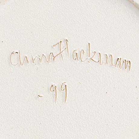 """Anna hackman, malja """"cobra"""", signeerattu anna hackman -99."""