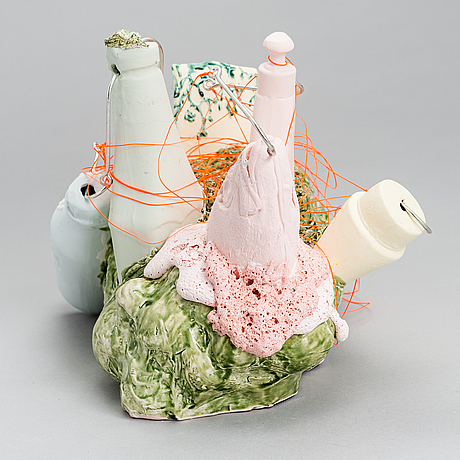 Anna hackman, a 'catch of the day' sculpture signed ah 2020.