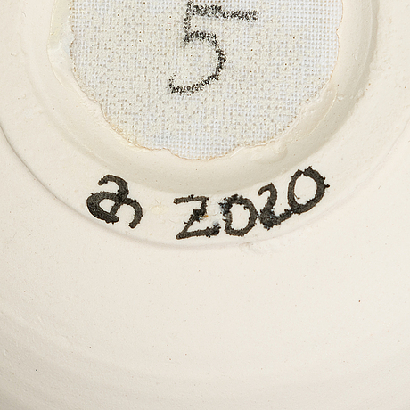 Anna hackman, a numbered 1-5 'micro life' composition signed ah 2020.