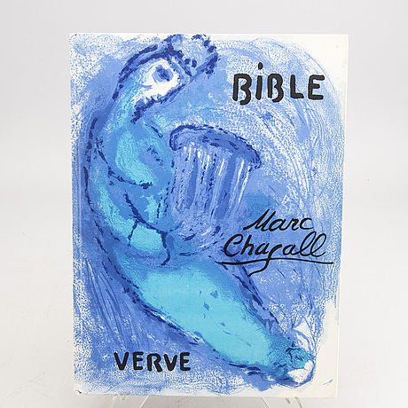 "Marc chagall,  bok ""bible"" verve."