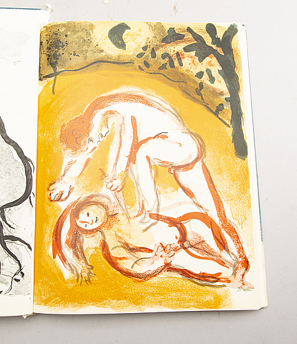 "A marc chagall ""dessins pour la bible"" with 24 colour lithographes, paris 1960."