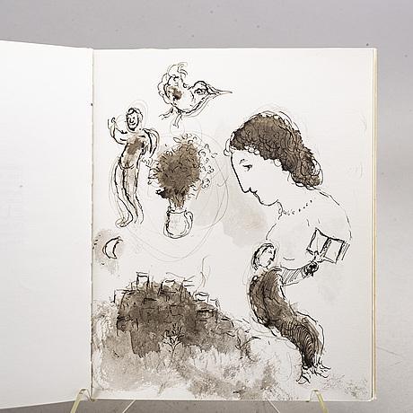 "Marc chagall bok ""lettres d'hivernage"" numrerad upplaga 782/2000."