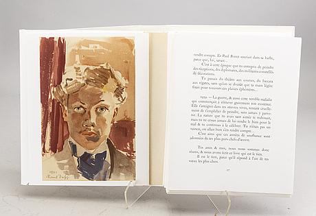 "Book, ""raoul dufy - lettre a mon peintre"", marcelle oury, no 790. librairie academique perrin 1965."