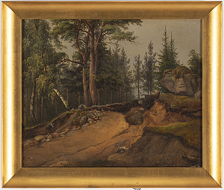 Joseph magnus stäck, a pair, oil on paper-panel, one signed s and dated 1837.