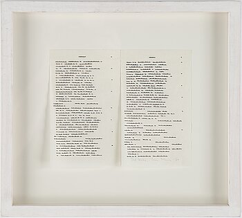 Irma Blank, indian ink on paper, signed and dated -74.