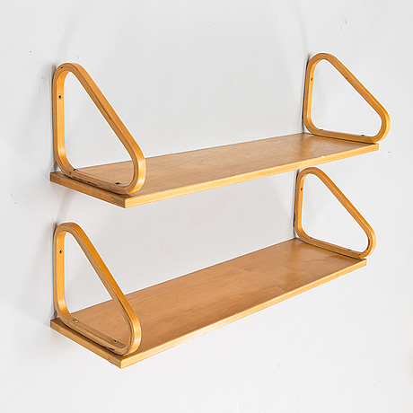 Alvar aalto,  two mid 20th century '112b' shelves for artek.