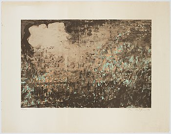 Ola Billgren, lithograph in colours, 1982, signed 78/100.