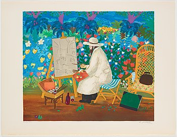 Lennart Jirlow, portfolio with 6 lithographs in colour, 1975, signed 227/380.