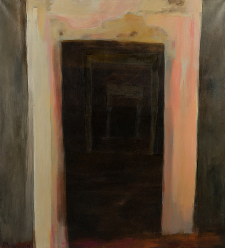 Riikka soininen, oil on canvas, signed and dated 2004.