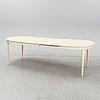 """Carl malmsten, matbord med 6 stolar, """"herrgården""""."""
