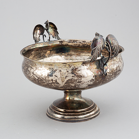 A swedish 19th century silver brandy-bowl, mark of lars löfgren, hudiksvall (1797-1853).